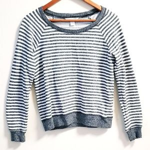 Victoria's Secret Stripped gray Sweatshirt